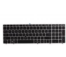 HP Tastatura laptop HP model 55011400-035-G Layout US, cu rama, Neagru-argintiu