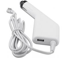 Mentor Incarcator auto laptop Apple A1150, A1151, A1172, A1212, A1222, A1226 85W MagSafe 1 cu port USB 5V 2A