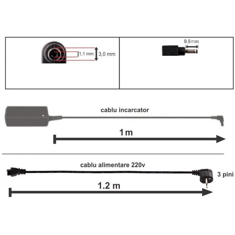 Mentor Incarcator compatibil laptop Asus 19V 2.37A 45W