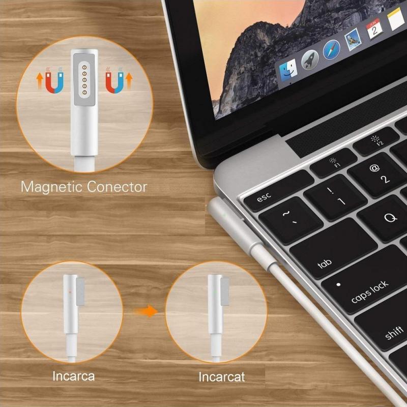 Mentor Incarcator auto laptop Apple A1181, A1184, A1278, A1330, A1342, A1344 MagSafe 1 cu port USB 5V 2A