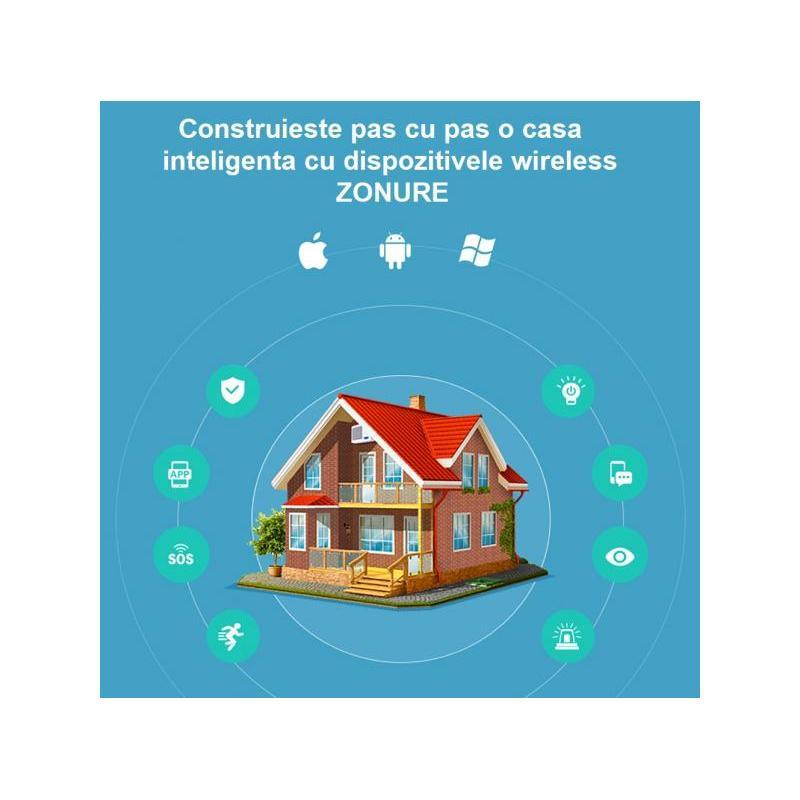 Zonure Senzor de miscare PIR wireless Zonure WiFi 2.4GHz