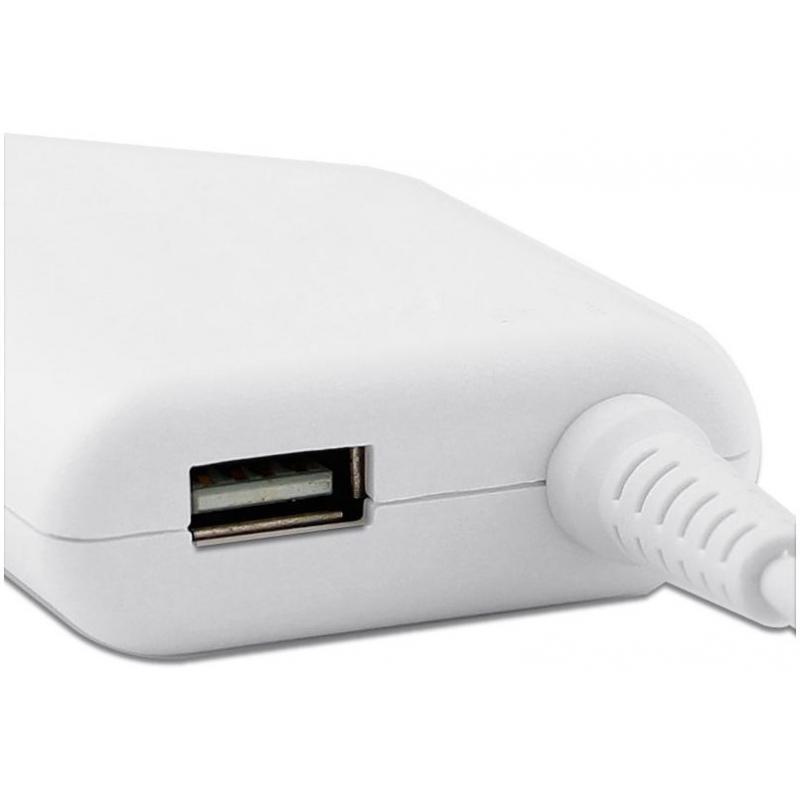 Mentor Incarcator auto laptop Apple A1398, A1424 85W MagSafe 2 cu port USB 5V 2A