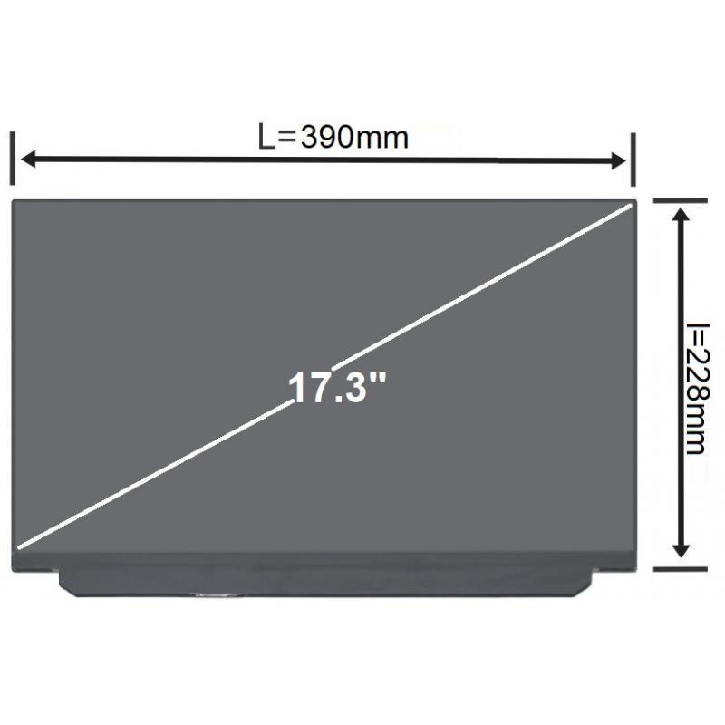 HP Display laptop HP 17.3 Full-HD 144Hz LED Slim