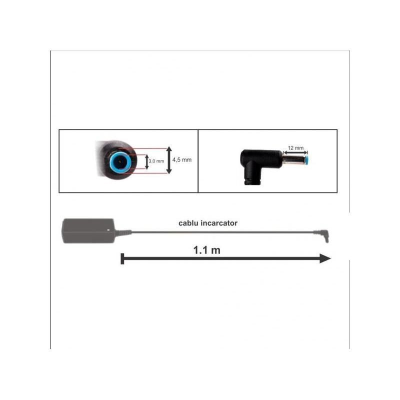 Mentor Incarcator auto laptop HP 19.5V 4.62A 90W cu port USB 5V 2A mufa 4.5x3mm