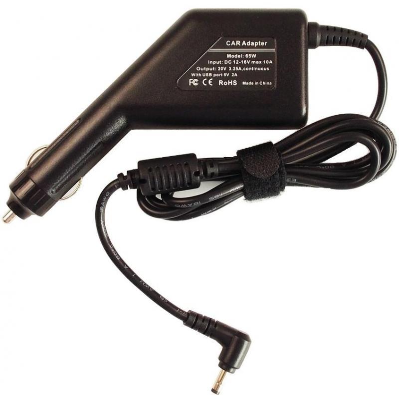Lenovo Incarcator auto laptop Lenovo 20V 3.25A 65W 5A10K78736, ADLX65CLGC2A cu port USB 5V 2A
