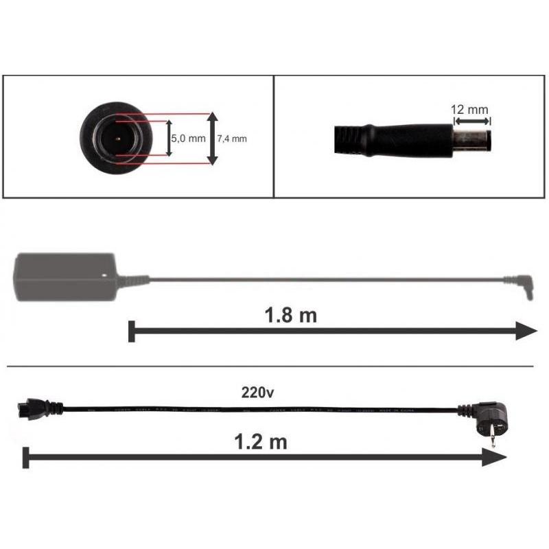 HP Incarcator HP 19.5V 7.1A 135W mufa 7.4x5.0mm